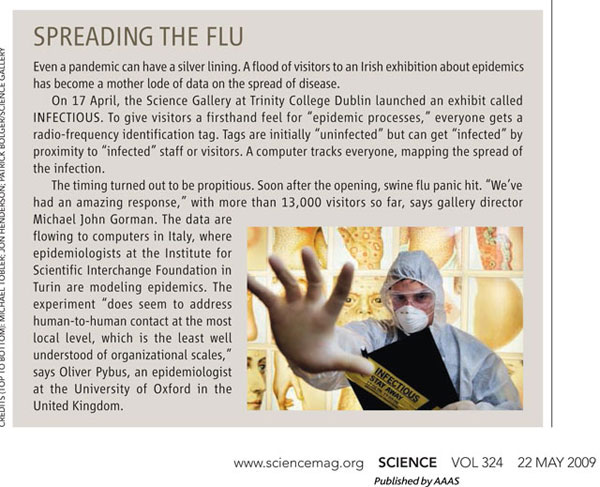 Spreading The Flu, Science Magazine, May 22, 2009