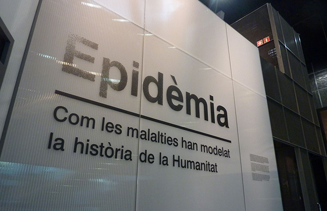 Picture of the entrance of the Epidèmia show.